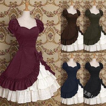 2020 gothic lolita skirt lolita set Japan victorian mid century lolita cosplay french court dress lolita dress square-cut collar фото