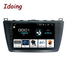 مشغل الوسائط المتعددة اللاسلكي متعدد الوسائط من ido بشاشة مقاس 9 بوصات يعمل بنظام الأندرويد لسيارات Mazda6 II Ultra Ruiyi 2 2007 2012 IPS 2.5D 4G + 64G 1Din Octa Core 4G