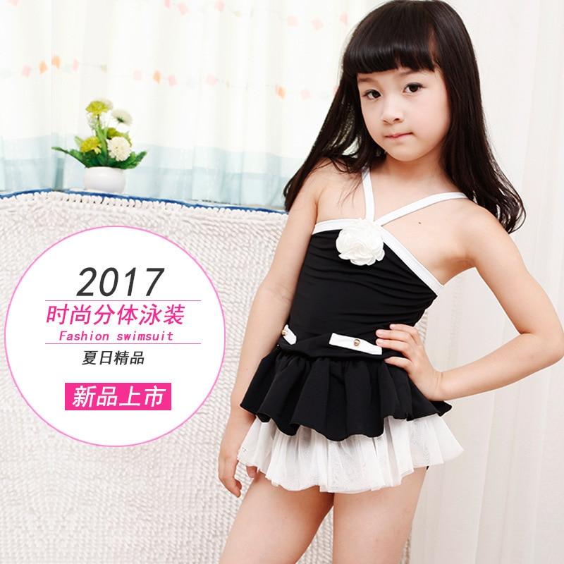 Children WOMEN'S Swimsuit Split Type Halter Chinlon Comfortable Fabric CHILDREN'S Swimwear 6605
