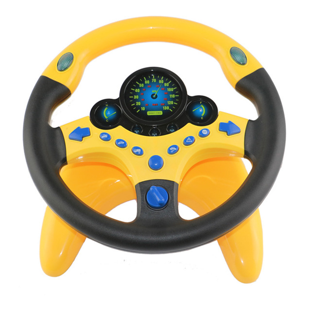 Simulation Small Steering Wheel Children's Toy Copilots Simulated Steering Toy Wheel Early Education Sounding Toy Kid Toys Gift
