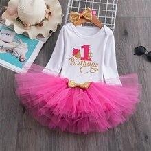 Это платье для маленьких девочек на первый день рождения, вечерние юбка-пачка с единорогом, зимняя одежда с длинными рукавами для маленьких ...