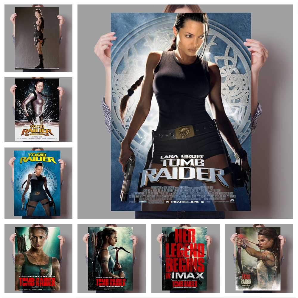 Classic Action Adventure Movie Lara Croft Tomb Raider Family Wall