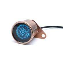 цена на 12V Universal For Harley Honda Yamaha Suzuki Motorcycle LED LCD Digital Speedometer Tachometer Odometer Oil Gauge
