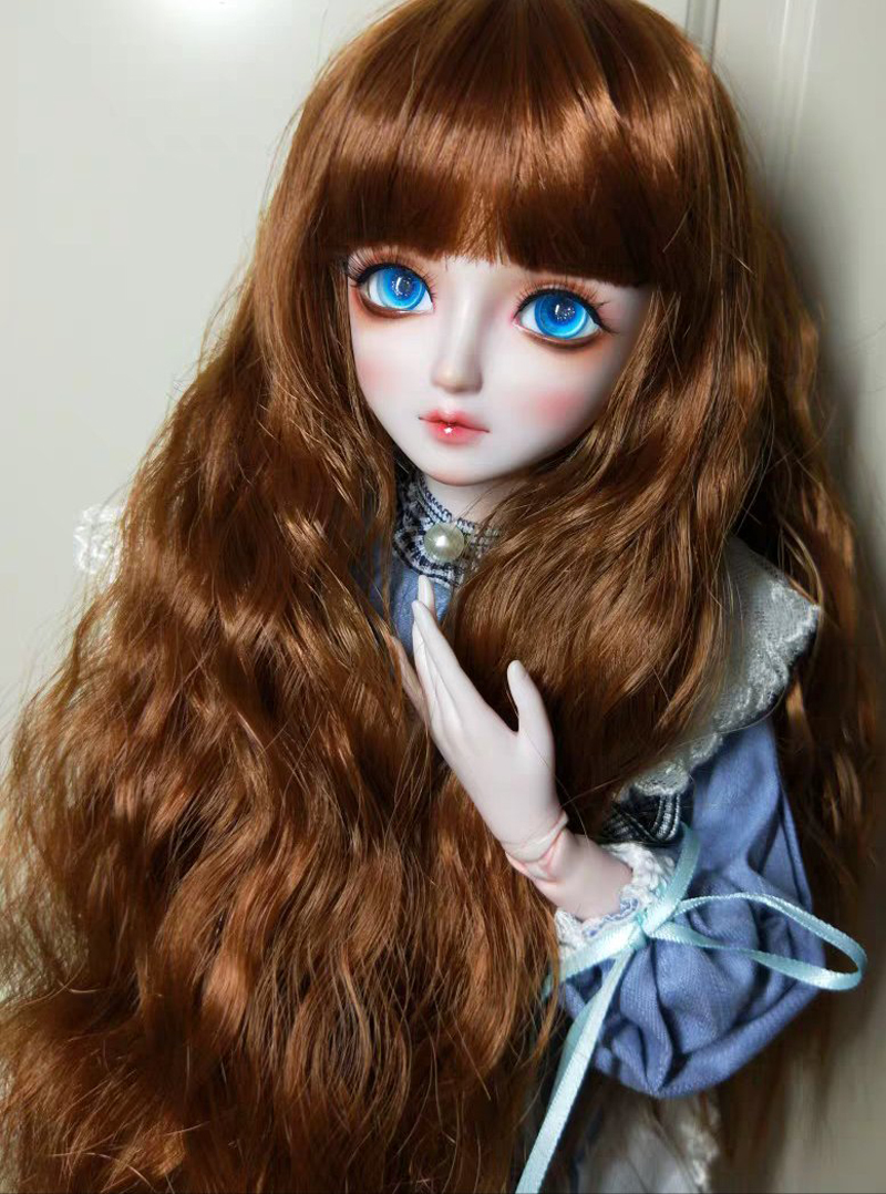 2020 New Fashion Style 1/3 1/4 1/6 1/8 Bjd SD Wig Wavy Long Wig Hair High Temperature Wire BJD Wig For BJD Doll Many Colors