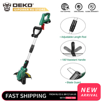 Deko dkgt06 20 v sem fio aparador de grama cortador de grama alça ajustável casa diy jardim power trimmer 1500 mah bateria lítio|Aparador de grama|   -