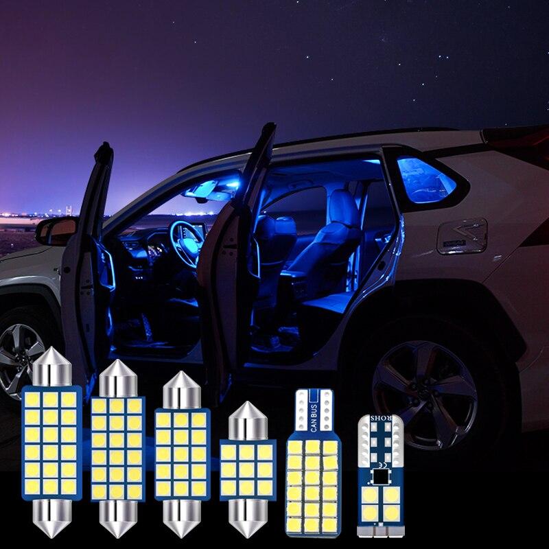 7x LED Bulbs Car Interior Light Kit Reading Lights Mirror Makeup Trunk Lamp For Hyundai Creta IX25 2014 2015 2016 2017 2018 2019