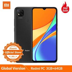 "Global Version Xiaomi Redmi 9C 3GB 64GB Smartphone 5000mAh big battery 13MP AI triple camera 6.53""HD+Dot Drop display Helio G35"