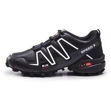Sapatilhas masculinas tamanho grande 39-48 ao ar livre trilha sapatos de corrida de ar alta qualidade à prova dwaterproof água couro trekking viagem casual calçados esportivos