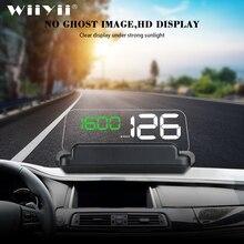عداد السرعة T900 HUD شاشة عرض أمامي للسيارة بنظام تحديد المواقع العالمي مع لوحة انعكاس للمرآة أداة تشخيص قياس OBD2
