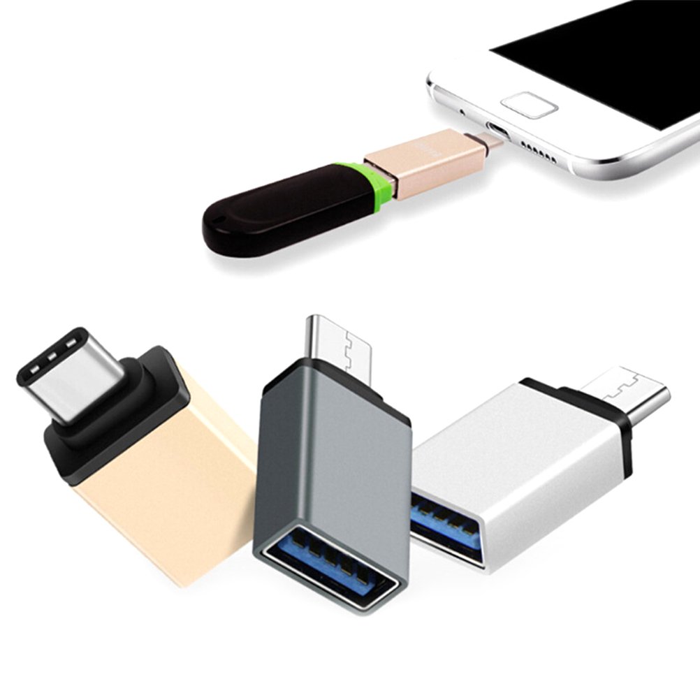 USB-C Type-C To USB OTG Mini Adapter 3.0 Converte For Smartphone High Speed Certified Cell Phone Accessories Charger