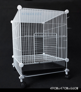 Image 2 - הכלוב עבור לחיות מחמד עבור כלב הולם עבור חתול שתן קערת לול כלוב מוצרים אבטחת שער עבור ארנב עם גלגלים