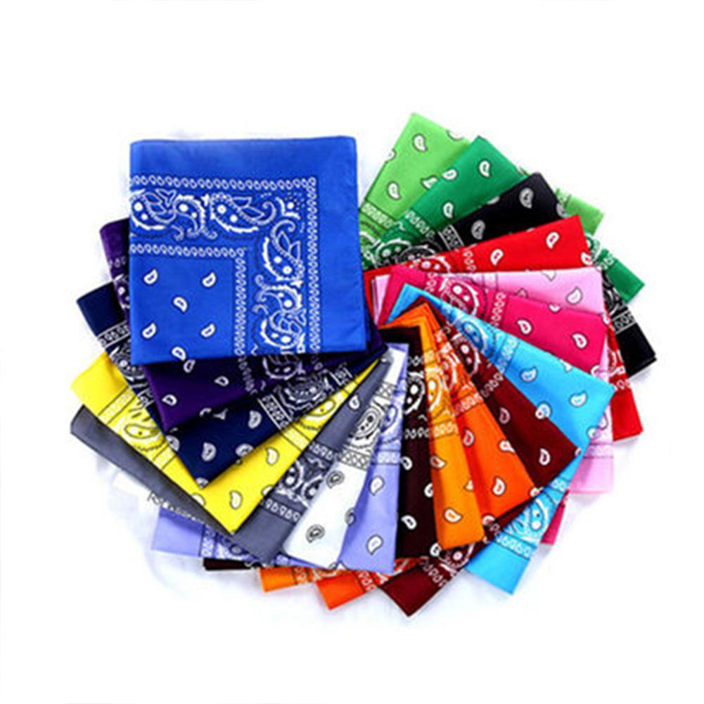 Hot Sale Muslim Bandanna Cotton Paisley Print Handkerchief Magic Scarf Riding Headband Square Turban Outdoor Hiking Face Scarf