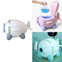 Baby Potty Kids Toilet Training Seat Children Plane Spaceship Portable Travel Potty Chair Urinal for Toddlers