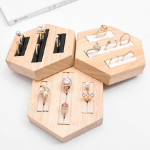 Wood Ring Insert Display Holder Tray Jewelry Storage Organizer Showcase Tool