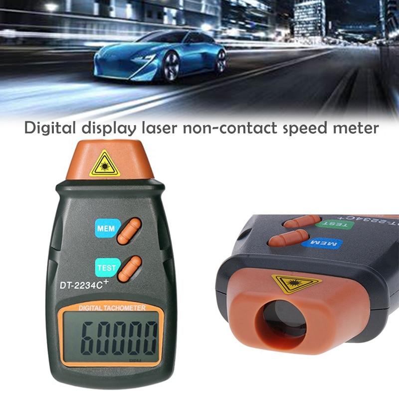 Digital Laser Tachometer RPM sin contacto LCD Digital Láser RPM tacómetro RPM