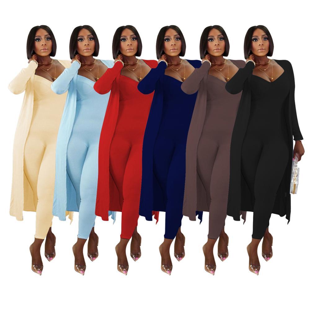 Dwuczęściowy zestaw kobiet 2 częściowy zestaw kobiet stroje z długim rękawem cardigans kombinezon jesienne ubrania dla kobiet 2020 2 sztuk zestawy stroje