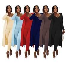 Deux pièces ensemble femmes 2 pièces ensemble femmes tenues à manches longues cardigans combinaison automne vêtements pour femme 2020 2 pièces ensembles de tenues