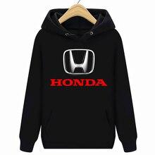 Hondaโลโก้รถยนต์Hoodies Sweatshirtsสีดำใหม่