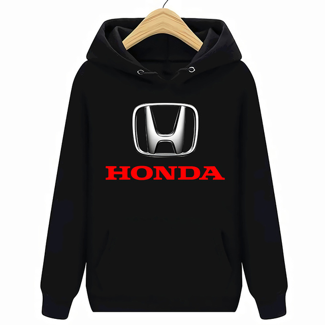 Honda Logo Auto Felpe Felpe Nero Nuovo