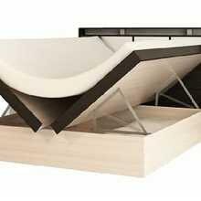 Кровать Фудзи (Дуб молочный, ЛДСП, Дуб Венге, 1400х2000 мм, 1435) Термит