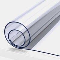 Mantel transparente de PVC de 2mm a prueba de agua rectangular cubierta de mesa estera patrón de cocina mantel de mesa a prueba de aceite paño de vidrio suave