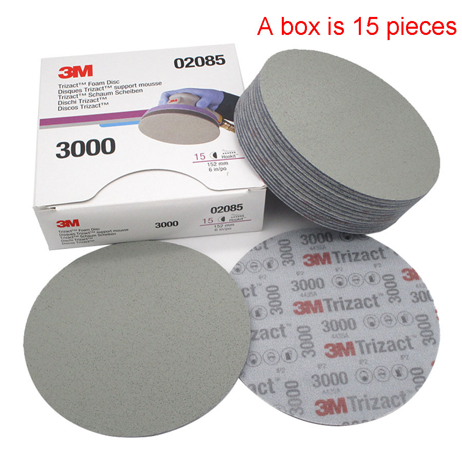 6 Inch 152mm Dry Wet Sponge Sandpaper Disc Back Velvet 3000 5000 Grit Abrasive Tools For Grinding 3M02085
