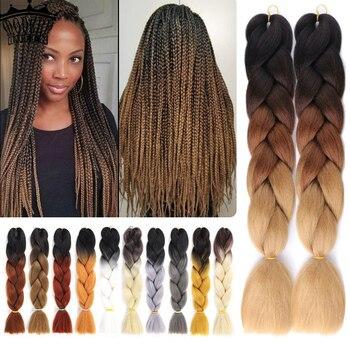 Long Ombre Braiding Hair Jumbo Box Braid 100g 24