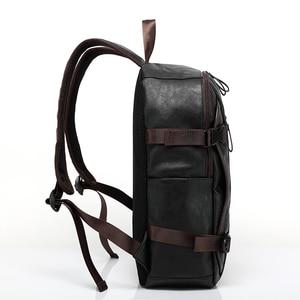 Image 5 - Nouveau vintage hommes sac à dos mode style PU cuir école étudiant sacs ordinateur sac voyage sacs à dos