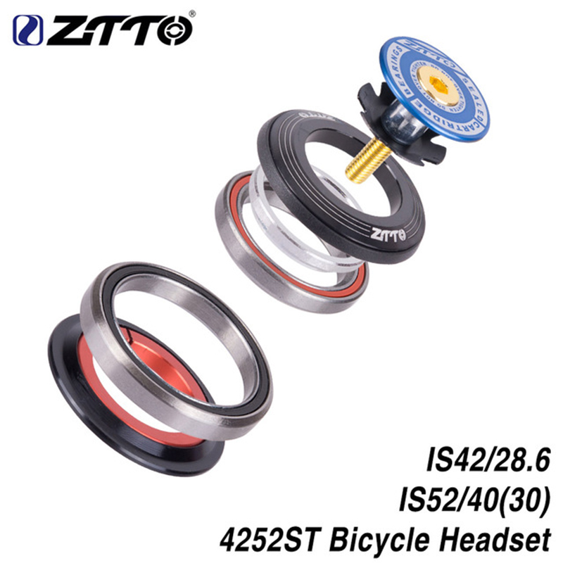 ZTTO MTB Bicycle Bearing Headset 42mm 52mm CNC 1 1/8