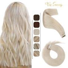 Vesunny лента для наращивания волос невидимые настоящие человеческие