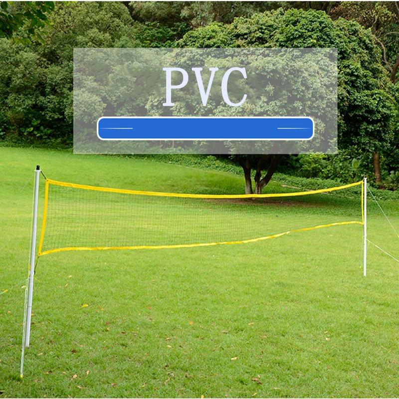 1.5m PVC Net Set Badminton Rack Portable Folding Indoor Outdoor Sports Net Post Support  Removable Standard Badminton Net Stand