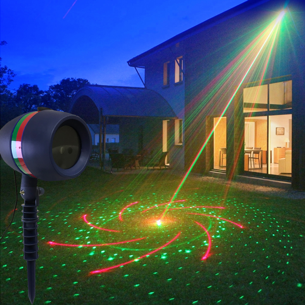 Outdoor Garden LED Star Laser Projector Lamp Star Rain Wedding Party Holiday Christmas Lawn Laser Projector Stage Light
