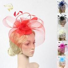 Wedding Net Feather Hats For Women Bridal Headwear Fashion Fascinator Birdcage Face Veils Bride Party Hair Accessories