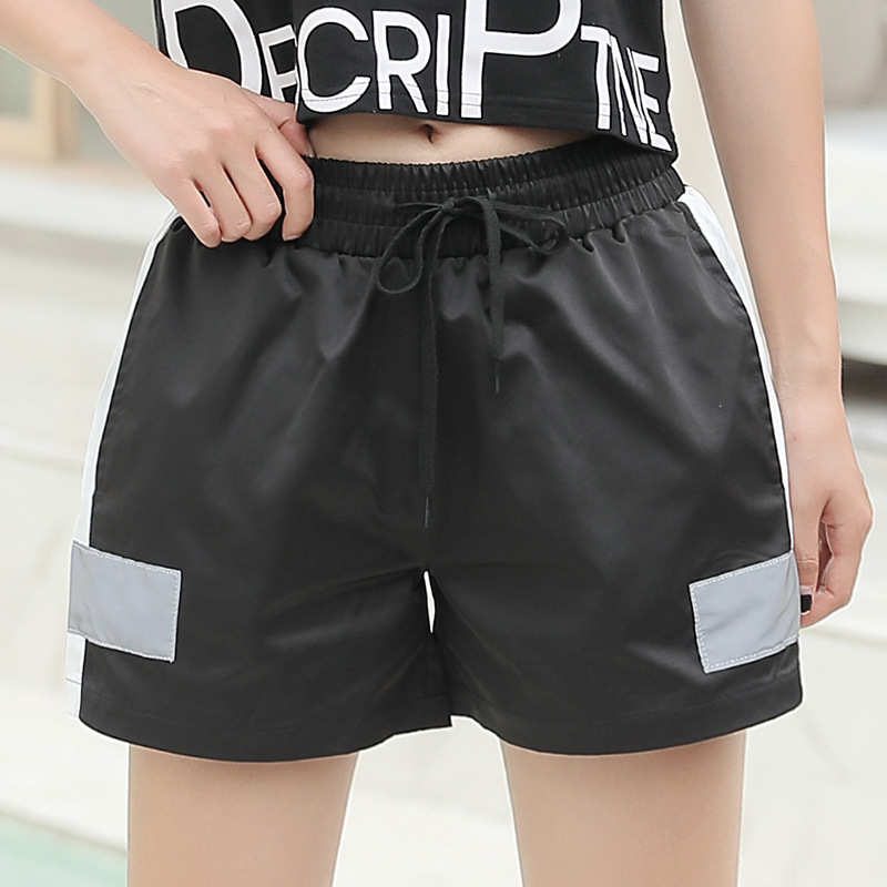 Net Red New Running Shorts Women's Leisure Loose Exercise Lady Shorts Reflective Fun Run Quick Dry Pants