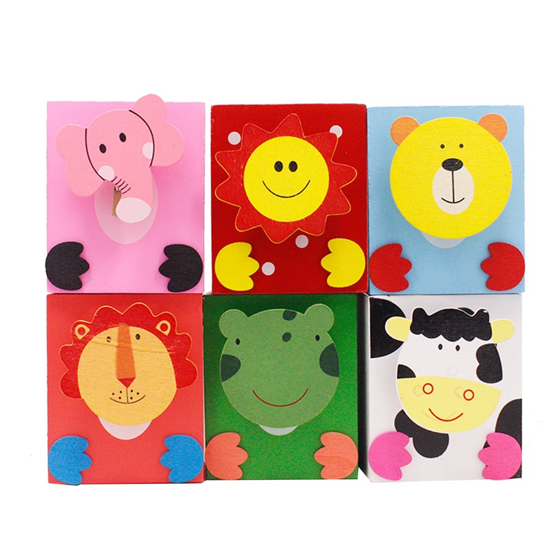 6Pc Pen Holder Animal Pencil Container Cartoon Craft Office Children Desk Accessory