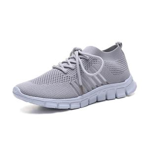 Image 1 - Women Casual Shoes Air Mesh Shoes Solid Shallow Sneakers Slip On Platfrom Shoes Lace up Stretch Fabric Shoes WJ010
