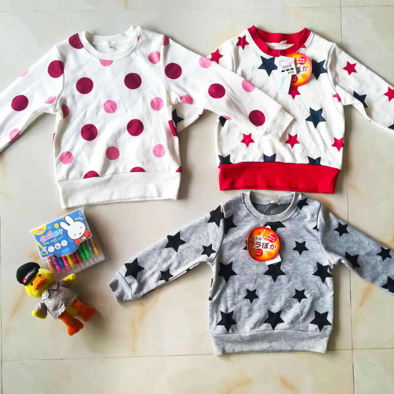 Girl boy kids Autumn fall spring shirt warm autumn clothing with velvet promotion price