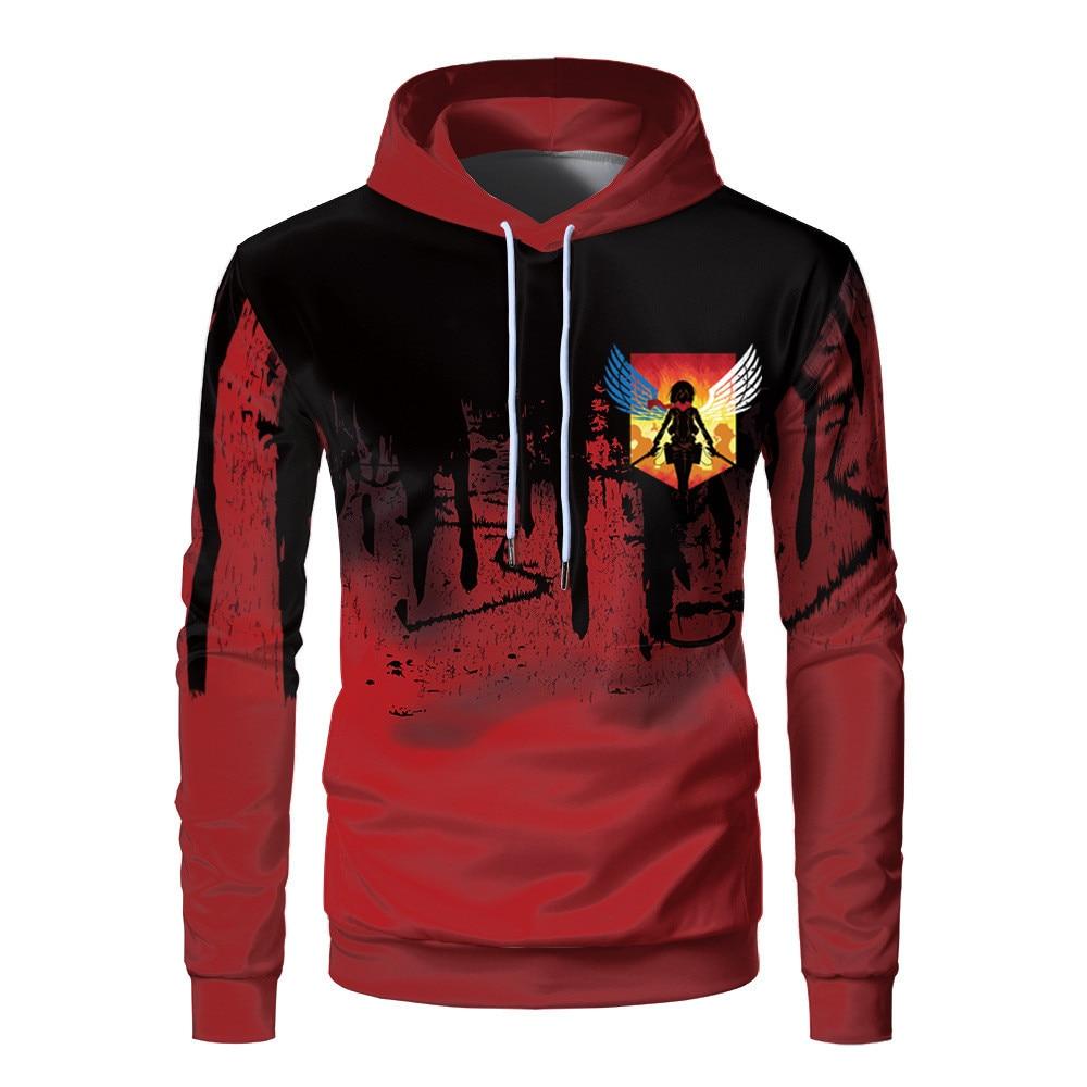 Худи унисекс с принтом «атака на гигантов», пуловер, уличная одежда, свитшот, худи, повседневный спортивный костюм в стиле хип-хоп, топы, Осен...