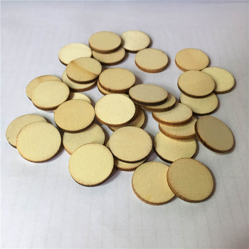 100Pieces 10mm 20mm Round Wood Cutout Circles Chips For Board Game Pieces,Arts & Crafts Projects,DTY Ornaments
