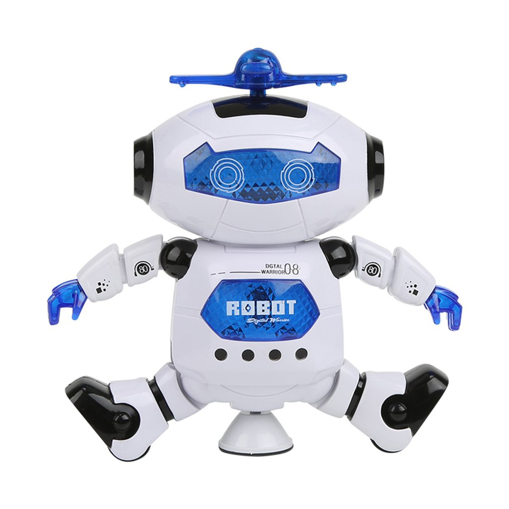Robot Toy Electric Dancing Colorful Singing Rotating Space Warrior Glowing Robot Toy 360 Degree Free Rotating Toy  For Boy Kid