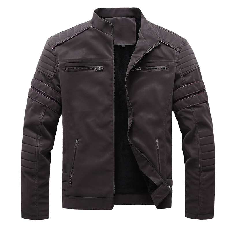 Mountainskin Autumn Winter Men's Leather Jackets Motorcycle PU Jacket Male Biker Leather Coats Mens Brand Clothing EU Size SA896 1