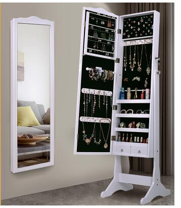 European style mirror jewelry storage cabinet wall mounted mirror home fitting mirror dormitory floor mirror cloakroom