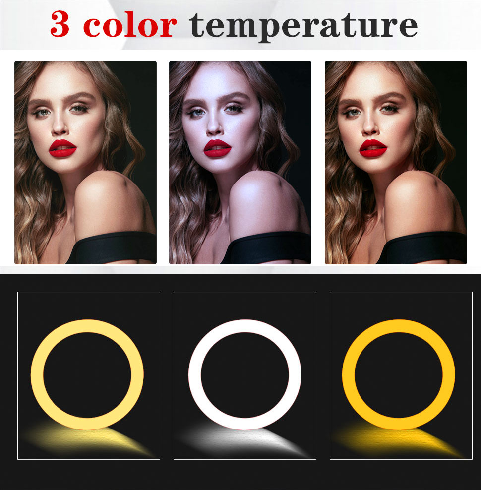 H7791ed7040c74536b63851d008d97b87o Orsda 10-13 Inch RGB Ring Light Tripod LED Ring Light Selfie Ring Light with Stand RGB 26 Colors Video Light For Youtube Tik Tok