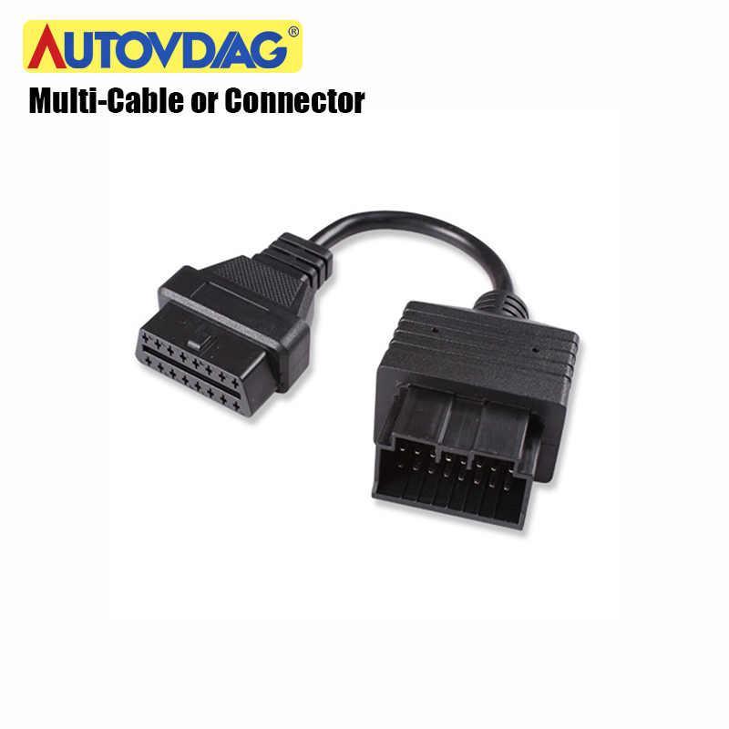 Купить с кэшбэком OBD2 Cable for Kia 20 Pin Connector For Benz For Mazda/Renault/BMW/ For GM For Tyota Cable Auto Diagnostic Multi-Connector