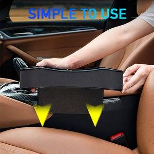 Image 4 - Universal assento de carro gap caixa de armazenamento esquerda/direita passageiro motorista lado para bolso organizador telefone suportes do carro interior acessórios