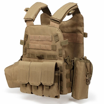 Tactical Vest Military Combat Body Armor Mens Army Hunting Vest Plate Carrier Airsoft 094K Pouch Combat Gear Outdoor CS Training 4