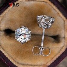 OEVAS Echt 0,5-1 Carat D Farbe Moissanite Stud Ohrringe Für Frauen Top Qualität 100% 925 Sterling Silber Funkelnde hochzeit Schmuck