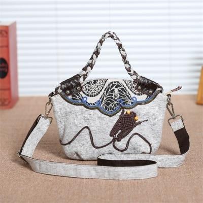 Fashion national string appliques women shopping handbags!Nice prints lady small shoulder&Crossbody bags Original Multi-use bags