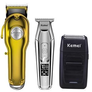 Image 2 - Kemei hair clipper electric hair trimmer barber hair cutter mower hair cutting machine kit combo KM 1987 KM 1986 KM 5027 KM 1102