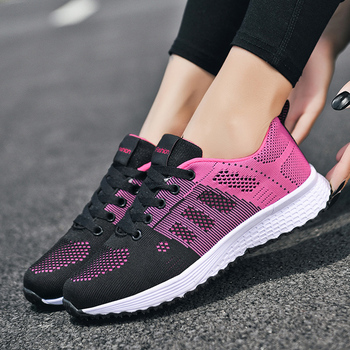 2020 Sneakers Women Shoes Flats Casual Ladies Shoes Woman Lace-Up Mesh Light Breathable Female zapatillas de deporte para mujer 5